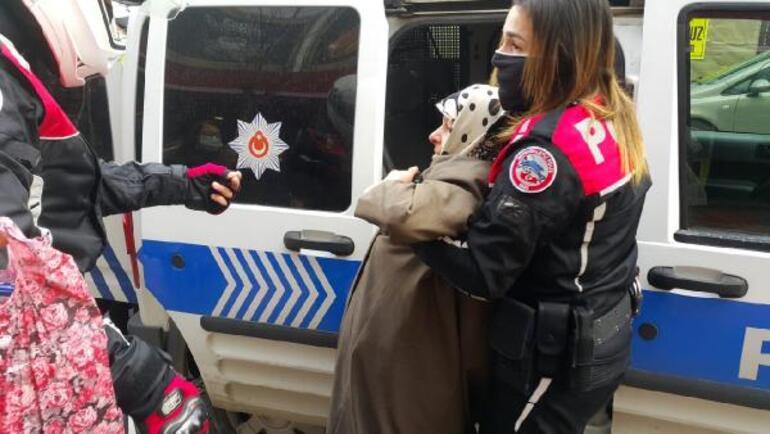 Anne-kız ortalığı karıştırdı Polise de direndiler...